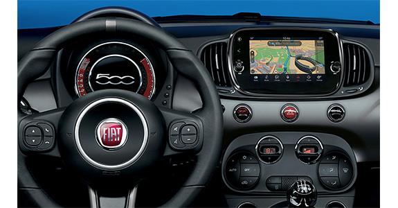 Fiat500 cabrio NAVIGATIE