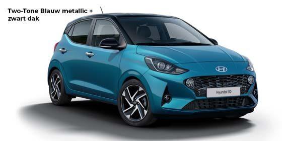 Hyundai i10 Blauw zwart