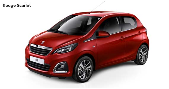Peugeot 108 Rouge Scarlet Private lease
