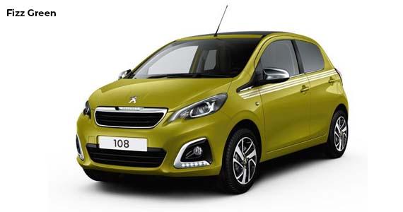 Peugeot 108 fizz green private lease