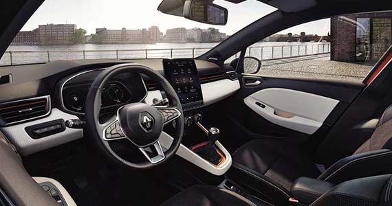 Private lease Renault Clio RS Line interieur