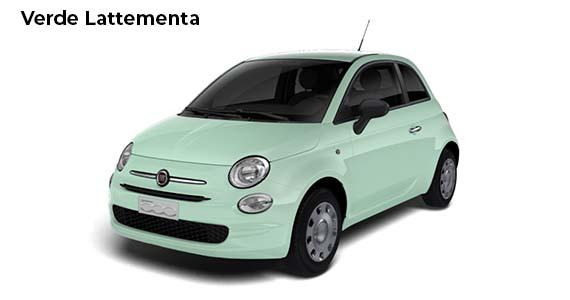 Fiat 500 1.0 pop Hybrid Verde Lattementa