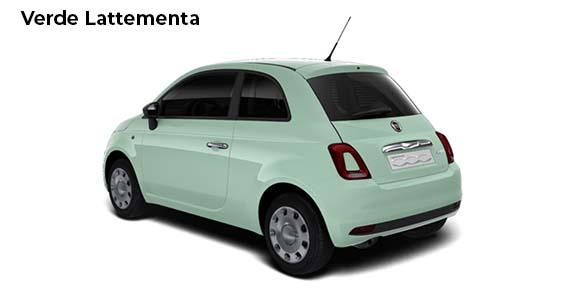 Fiat 500 1.0 pop Hybrid Verde Lattementa AK