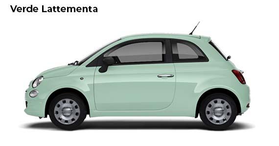 Fiat 500 1.0 pop Hybrid Verde Lattementa ZK