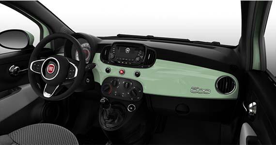 Fiat 500 1.0 pop Hybrid Verde Lattementa dashboard