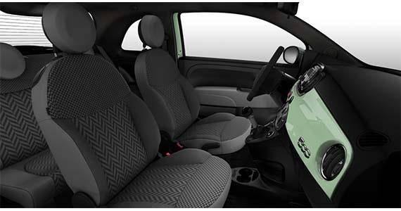Fiat 500 1.0 pop Hybrid Verde Lattementa interieur